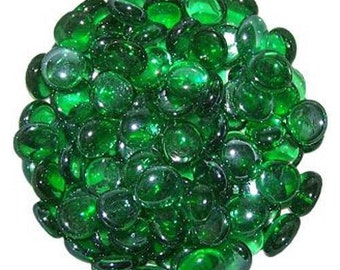 Green Glass Pebbles Home Vases Wedding