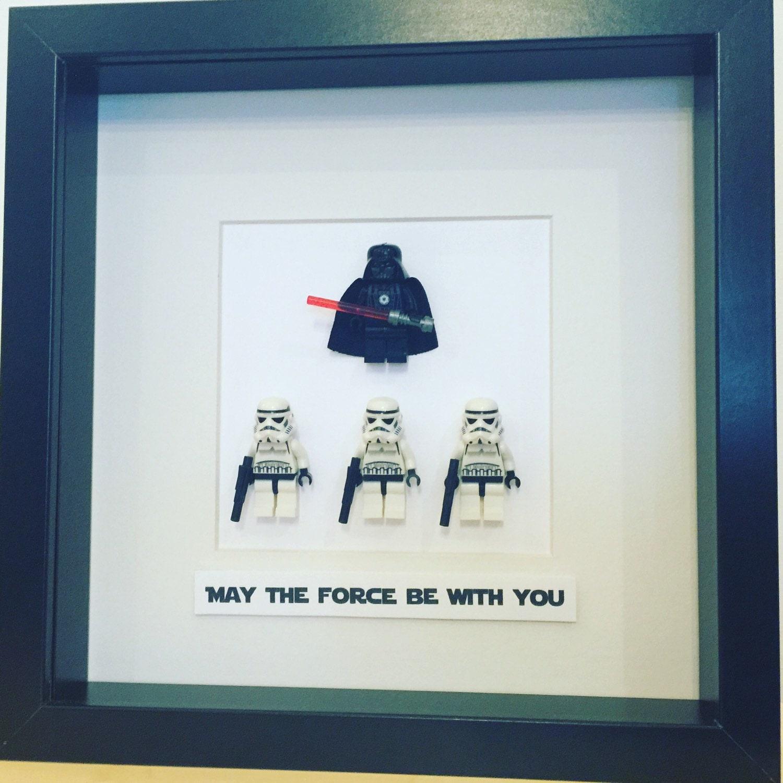 Star Wars Lego Mini Figure Frame. Yoda Obi Wan Kenobi Luke