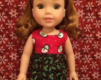 Reversible Christmas Shirt for 14inch Dolls