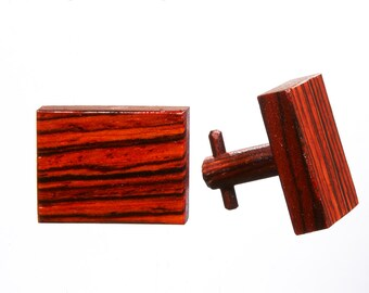 Mens jewelry Cocobolo Wood cuff links