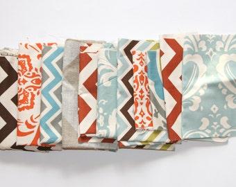60% OFF! Fabric Scraps SALE- Premier Prints Fabric Remnants- Natural Color Assortment- Home Decor Fabric, Cotton Material, Swatch Pieces