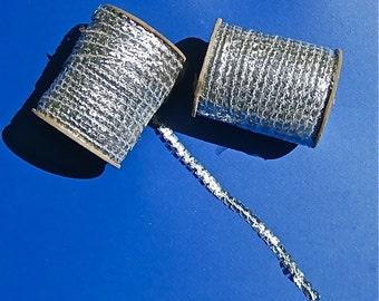 SALE.. Metallic Silver Ric Rac, 288 Yards - Free Shipping