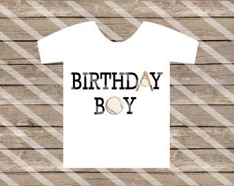 Baseball Birthday Boy digital download for creating iron-ons, heat transfer, Scrapbooking,  DIY YOU PRINT