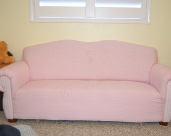 Child or Kids Sized Sofa Couch Upholstered and Custom Handmade