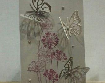 Blank Greeting Card, Handmade Card, Stationery Card, Wedding