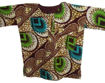 Boho cotton tunic shirt boy's Dashiki shirt Indian African boy's kurta Summer printed shirt Hippie top children's wear
