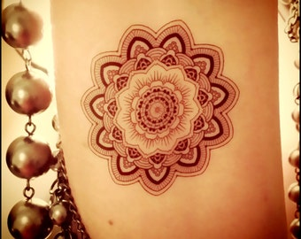 Mandala fake tattoo temporary tattoo mandala tattoo
