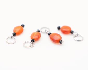 Carnelian Stitch Marker Set of 4