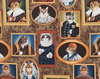Elizakitten Era By Alexander Henry Fabrics, Cat In Clothes, Cat Lady Cat Lover Fabrics