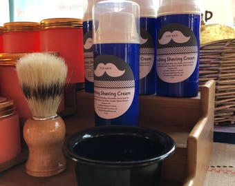 Soothing SHAVING CREAM - for Men | Natural & Paraben Free | Barber Shoppe Fragrance | Moisturizing, Foaming, added Slip and Glide Formula