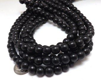 52 Black Howlite Beads 8MM howlite bead (H7032-OS)