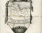 1823 Perrot Map of Côtes...