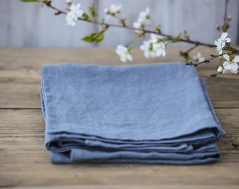 Set of linen napkins. 12 colours. Stonewashed. Set of 4, 6, 8 napkins. Linen cloth napkins.