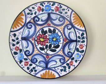 Sale 25% off Vintage hand painted decorative plate was 20.00