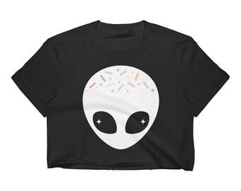 Alien Shirt | Pastel Grunge Top | Crop Top | Tumblr Shirt | Women's Clothing | Alien Clothes | UFO Tee | Goth