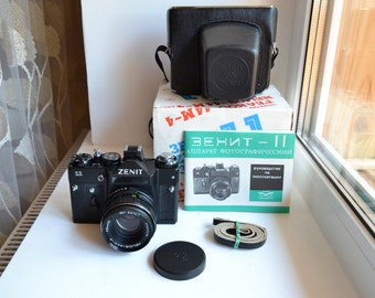 Zenit-11 USSR camera with lens Helios 44M-4 S/N 88206119, complete set!