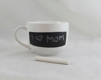 Ready to Ship Chalkboard Mug -  Custom Mug for hot and cold beverages