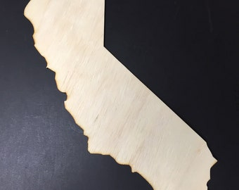 California Sign CA - Wooden Cutouts Shapes for Projects or Other Use
