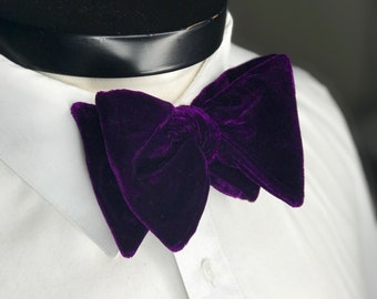 The Glasgow - Our big bowtie in our finest royal purple silk velvet
