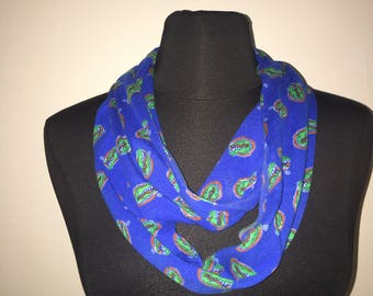 Repurposed/Up-cycled University of Florida Gators Infinity Scarf