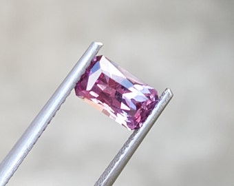 1.00 Carat Cut Cornered Rectangle Pastel Pyrope Color Change Garnet, Tanzania