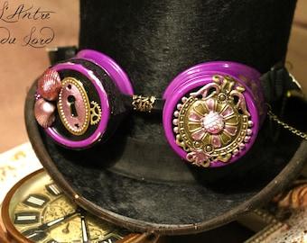 """The secret of the ocean"" Purple shells fairy steampunk goggles"