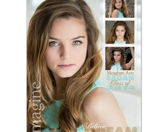 Senior Yearbook Ads Photoshop Templates - SCULPTING WORDS - High School Yearbook Ad Custom Design