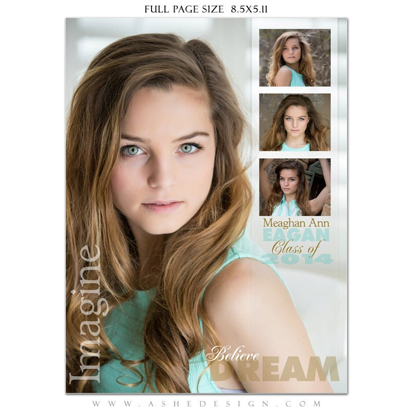 Senior Yearbook Ads Photoshop Templates - SCULPTING WORDS - High ...