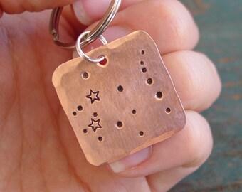 Gemini Zodiac Keychain, Gemini Gift, Constellation, Star Sign, Astronomy Gifts, Horoscope Keychain, Astrology, May Birthday, June Birthday