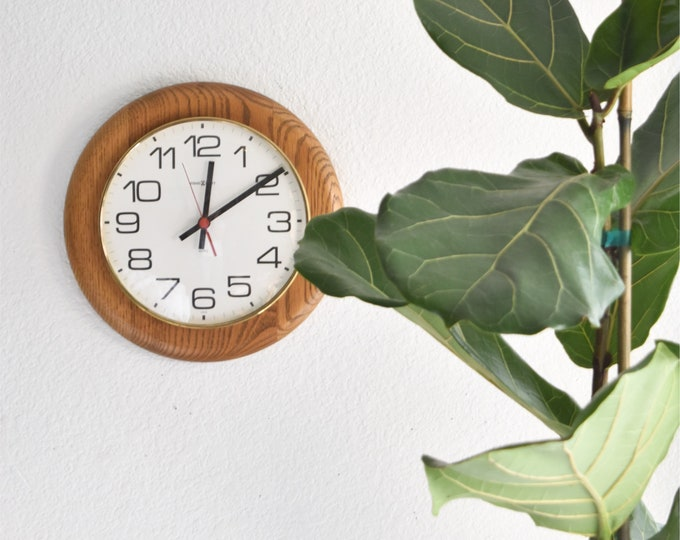 howard miller mid century wooden wall hanging clock battery operated clock