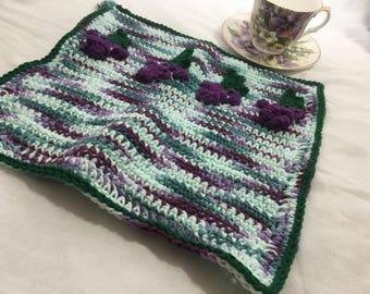 Crocheted Grape Dishcloth