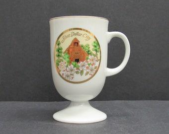 Vintage Silver Dollar City Floral Souvenir Mug (E10051)