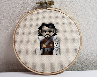 Finished Cross Stitch GOT Jon