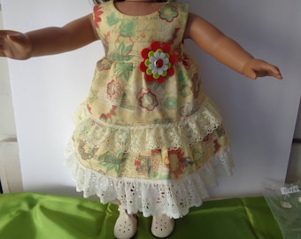 Mori Girl ruffled lace Dress for 18 inch Dolls-Shown on My American Girl Doll