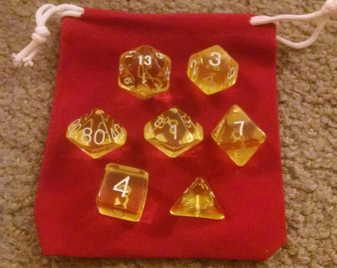 Lemonade - 7 Die Polyhedral Set with Pouch