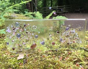 Fused Glass Allium Wave