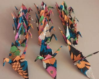 Set of origami cranes: tropic Collection