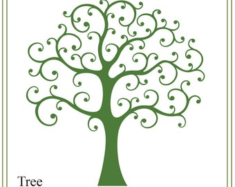 Tree svg, whimsical tree svg, wedding svg, nature svg, family tree svg, tree illustration, greeting cards, signs, iron on tree, printable