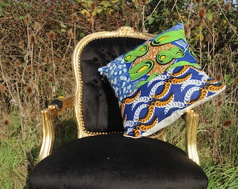 African Print Pillow - African Pillow - Ankara Decoration - African Decor - Gold Cushion - African Decorative Cushion - African Homewear