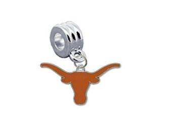 Texas Longhorns European Charm for Bracelet
