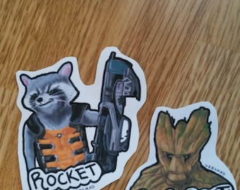 Marvel's Guardians of the Galaxy Groot and Rocket Stickers