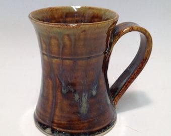 Pottery Coffee Mug - Celedon & Green