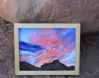 """Original Oil Painting, """"Sunrise Over the Butte"""""""