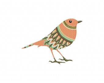 Abstrac bird art machine embroidery design