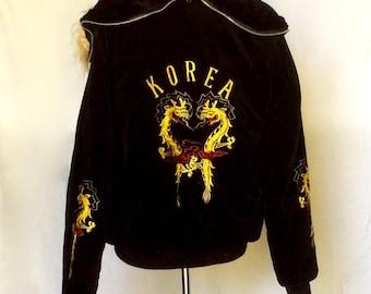 Vintage Black Velvet Korea Tour Jacket