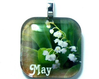 Birth Flower May Lily of The Valley Pendant