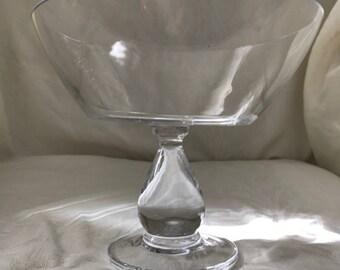 Clear Glass Pedestal