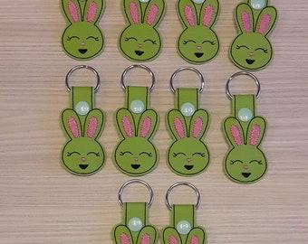 Green Bunny keychain