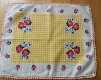 Vintage portuguese embroidered kitchen dish towel