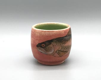 Rainbow Trout Cup with Emerald Green
